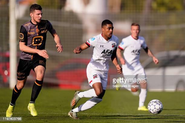 Myron Boadu of AZ Alkmaar during the Club Friendly match between AZ Alkmaar v Mechelen on January 10, 2020 in Oliva Spain
