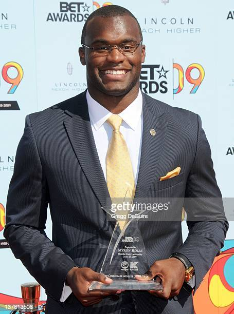 Myron Rolle arrives at the 2009 BET Awards held at the Shrine Auditorium in Los Angeles California on June 28 2009