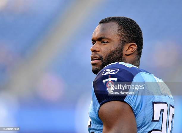 Myron Rolle of the Tennessee Titans during a preseason game against the Arizona Cardinals at LP Field on August 23 2010 in Nashville Tennessee...