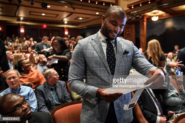Myron Rolle opens his Match Day letter that shows where he will continue his medical education and residency on Friday March 17 2017 Rolle is a...