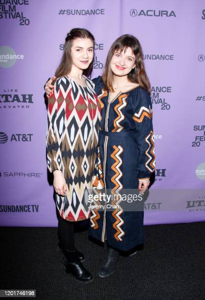 Myroslava Trofymchuk and Director Iryna Tsilyk attend the The Earth Is Blue As An Orange premiere during the 2020 Sundance Film Festival at Temple...
