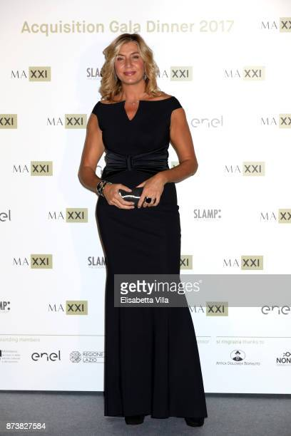 Myrta Merlino attends MAXXI Acquisition Gala Dinner 2017 at Maxxi on November 13 2017 in Rome Italy
