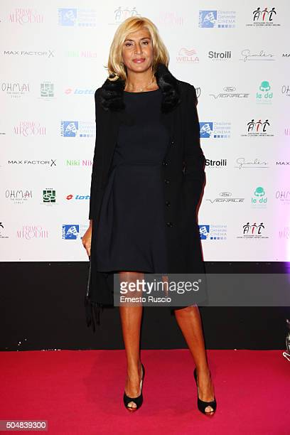 Myrta Merlino attends the 14th Afrodite Awards dinner gala at Studios on January 13 2016 in Rome Italy