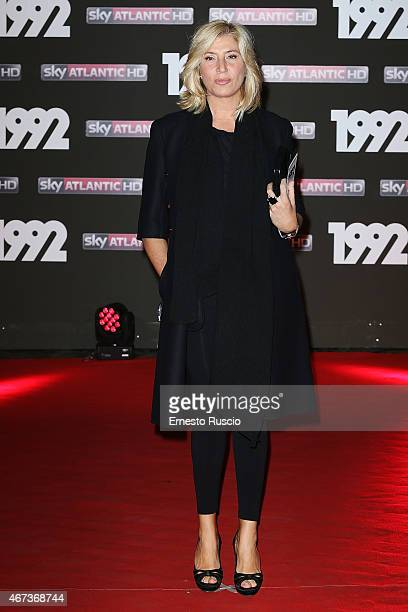Myrta Merlino attends the '1992' Tv Movie premiere at The Space Moderno on March 19 2015 in Rome Italy
