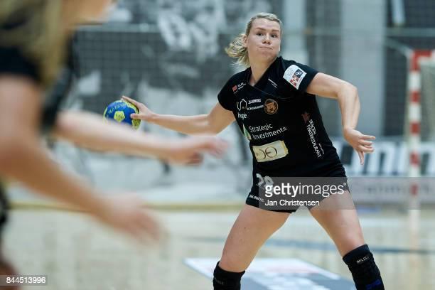 Myrthe Schoenaker of Copenhagen Handball in action during the Danish HTH Go Ligaen match between Copenhagen Handball and Silkeborg Voel in...