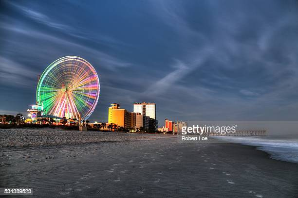 myrtle beach boardwalk at dusk - file:myrtle_beach,_south_carolina.jpg stock pictures, royalty-free photos & images