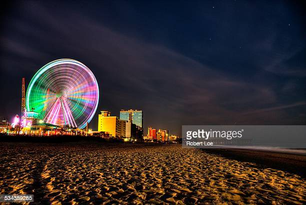 myrtle beach boardwalk at night - file:myrtle_beach,_south_carolina.jpg stock pictures, royalty-free photos & images
