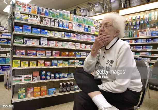 Myrtle Gosse waits for her prescription drug order at Ballin Pharmacy September 17 2003 in Chicago Illinois Illinois Gov Rod R Blagojevich earlier...