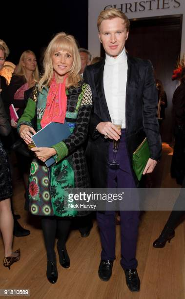 Myrto Cutler and Henry Conway attend reception hosted by Graff held in aid of FACET at Christie's King Street on October 12 2009 in London England