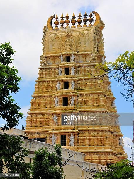mysore chamundi hills - chamundeshwari temple - mysore - fotografias e filmes do acervo