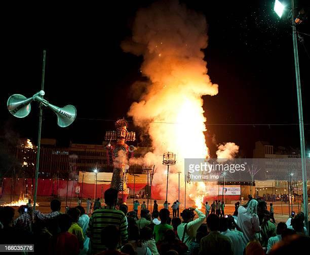 Mysore Dasara or Dusshera festival is a Hindu festival where large dolls are burned