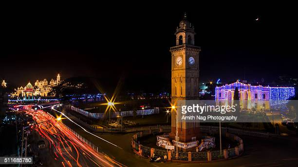 Mysore Palace and Clock Tower