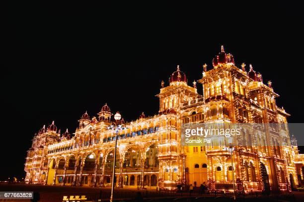 mysore palace, india - mysore - fotografias e filmes do acervo