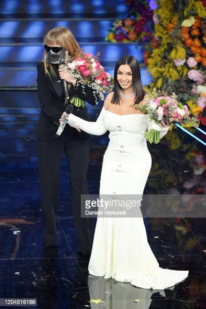 Myss Keta and Elettra Lamborghini attend the 70° Festival di Sanremo at Teatro Ariston on February 06 2020 in Sanremo Italy