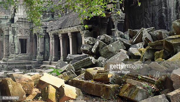 Mysterious ancient stone ruins - Ta Prohm, Cambodia