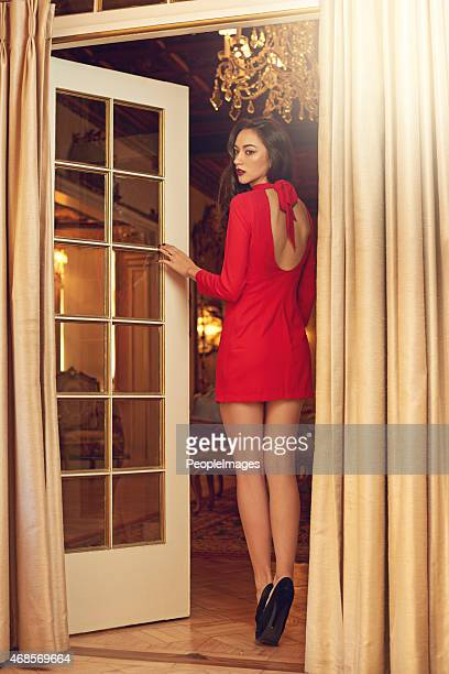 mysterious beauty - woman open legs stock photos and pictures