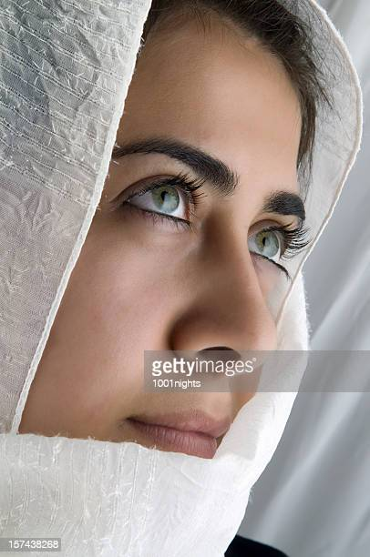 mysterious eyes - iranian culture stock photos and pictures