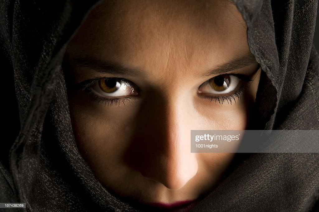 Mysterious Eyes : Stock Photo