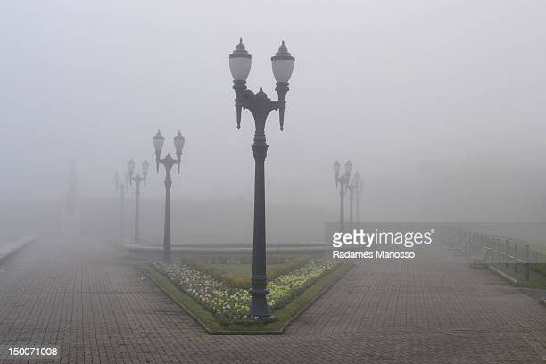 mysterious fog - curitiba stock pictures, royalty-free photos & images