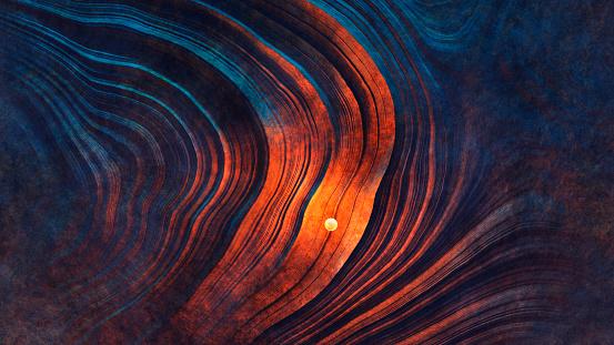 Mysterious light sphere hovering over Martian landscape - gettyimageskorea