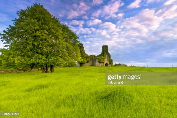 Mysterious places in Ireland , scenic  rural landscape.