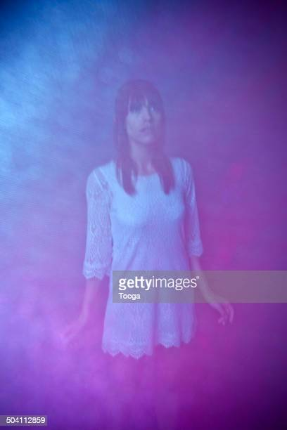 Mysterious portrait of woman
