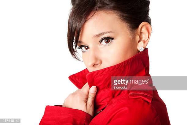 Mysterious Woman in Red