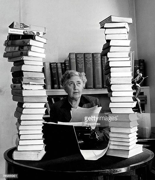 Volume 2 Page 114 Picture Literature Mystery author and writer Agatha Christie pictured at her home Winterbrook House in Wallingford Berkshire...