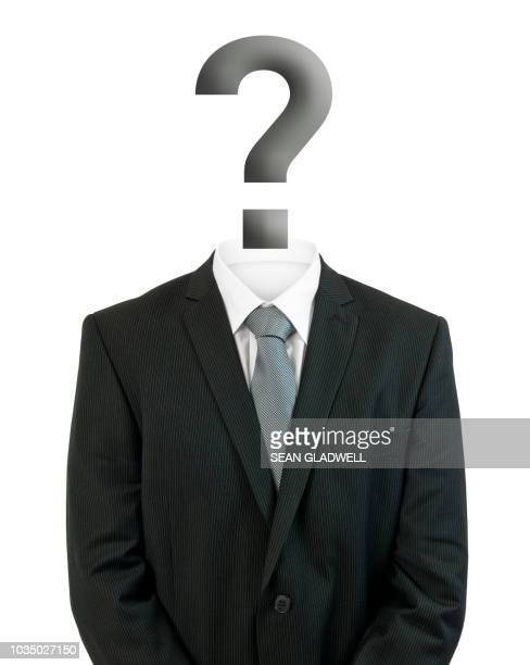 mystery man with question mark - stranger stock photos and pictures