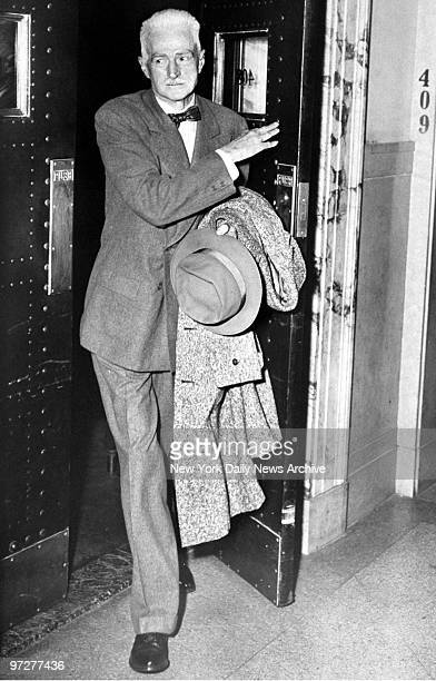 Mystery writer Dashiell Hammett at Supreme Court where he testified before a joint legislative committee that he had no knowledge that any member of...