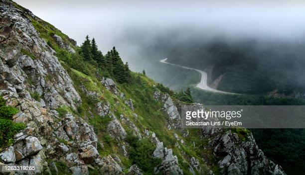 mystic cabot trail - cape breton island stock pictures, royalty-free photos & images