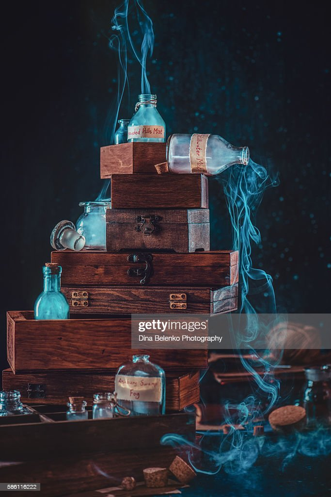 Mystic collection of bottles and jars : Photo
