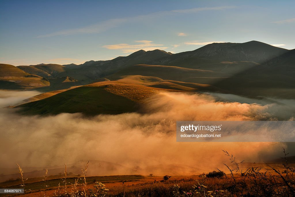 Mystic fog in the morning : Foto stock