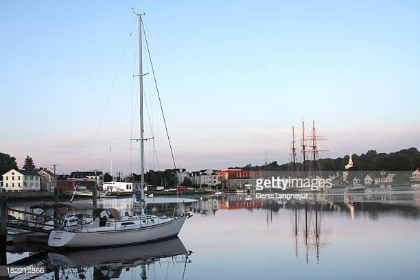 mystic seaport - connecticut - fotografias e filmes do acervo