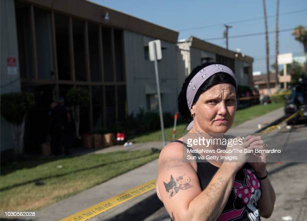 Mystica Alcocer heard shots and saw two bodies on the sidewalk along her apartment complex at 1227 E Lynwood Dr in San Bernardino Calif on Saturday...