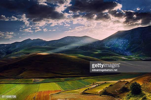 mystical light at sunrise - edoardogobattoni stock pictures, royalty-free photos & images