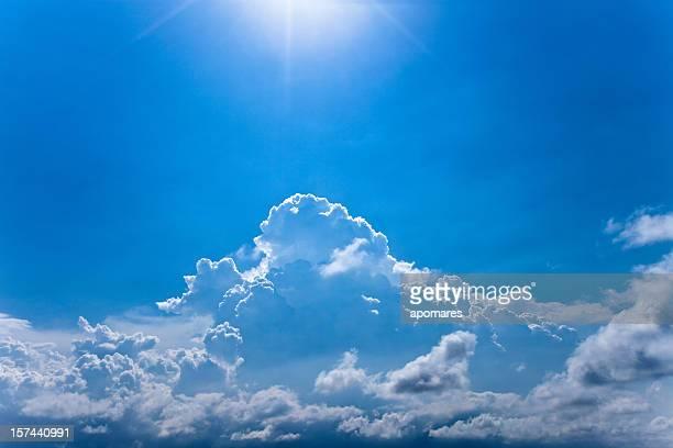 místico sunrays - céu claro - fotografias e filmes do acervo