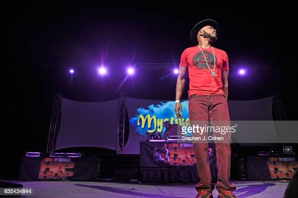 Mystikal performs during the Louisville Old School Hip Hop Festival at KFC YUM Center on February 14 2017 in Louisville Kentucky