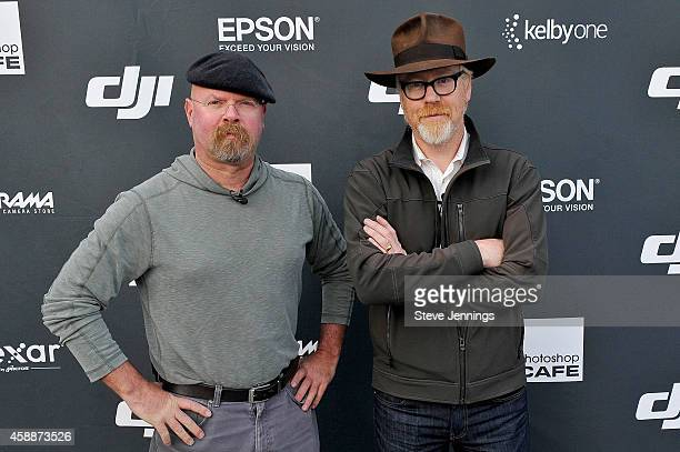 Mythbusters Jamie Hyneman and Adam Savage attend the DJI Evolution Inspire Launch at Treasure Island on November 12 2014 in San Francisco California