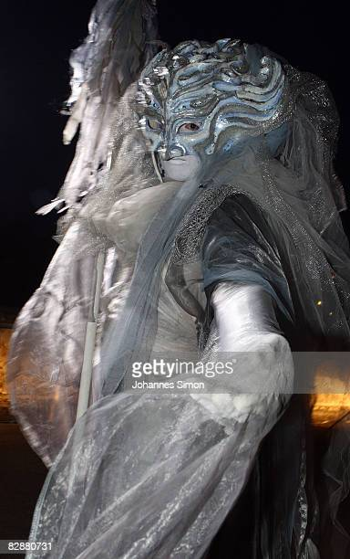 A mythical creature poses during the 'Fabulous Celebration' at Nymphenburg Castle on September 18 2008 in Munich Germany French champagne producer...