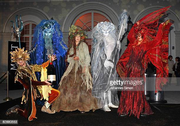 Mythical creatures are seen during the 'Fabulous Celebration' at Nymphenburg Castle on September 18 2008 in Munich Germany French champagne producer...
