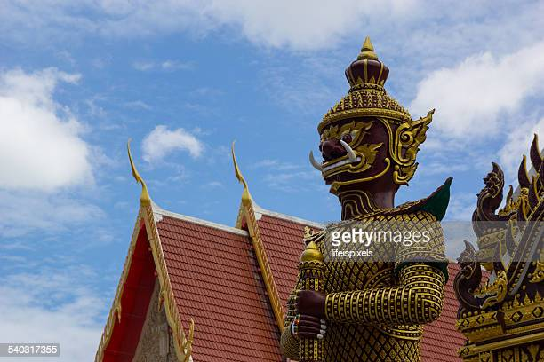 mythical giant guardian at khao kalok temple - lifeispixels stock pictures, royalty-free photos & images