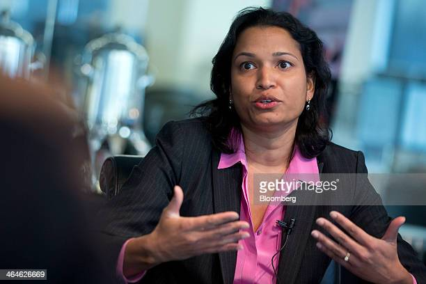 Mythili Raman acting assistant attorney general of the criminal division with the US Department of Justice speaks during an interview in Washington...