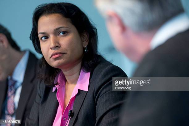 Mythili Raman acting assistant attorney general of the criminal division with the US Department of Justice listens to a question during an interview...