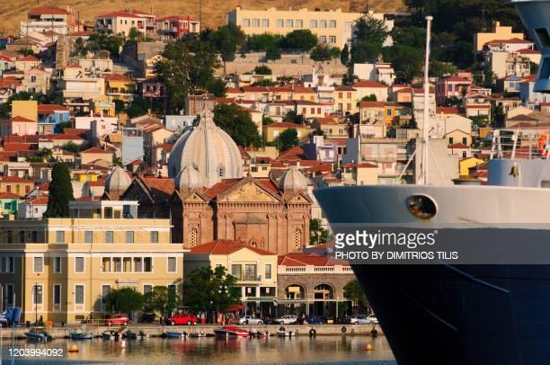 mytilene's port - dimitrios tilis stock pictures, royalty-free photos & images