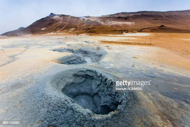 myvatn, iceland - volcanic crater stock pictures, royalty-free photos & images