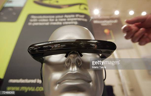 Myvu personal media viewer is displayed at the 2007 CES Consumer Electronics Show November 8, 2006 in New York City. The show features new electronic...