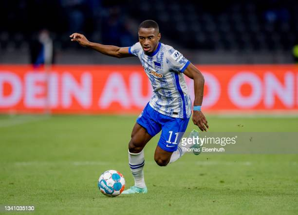 Myziane Maolida of Hertha in action during the Bundesliga match between Hertha BSC and SpVgg Greuther Fürth at Olympiastadion on September 17, 2021...