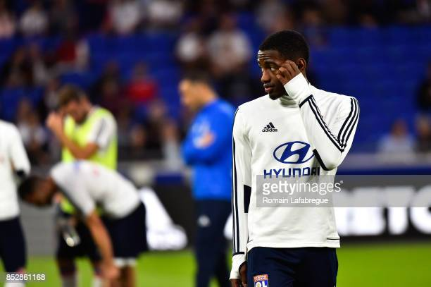 Myziane Maolida of Lyon during the Ligue 1 match between Olympique Lyonnais and Dijon FCO at Parc Olympique on September 23 2017 in Lyon