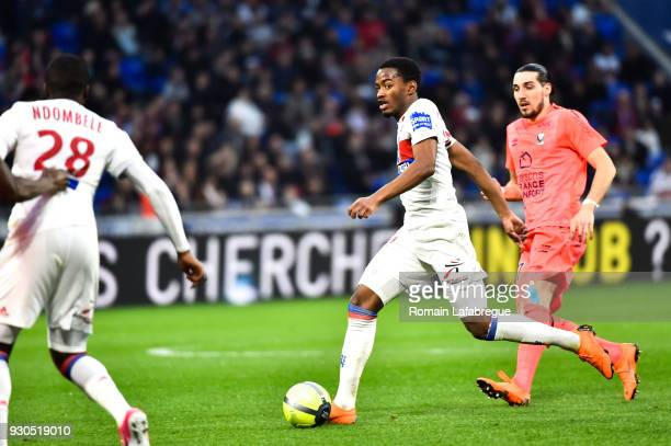 Myziane Maolida of Lyon during the Ligue 1 match between Olympique Lyonnais and SM Caen at Parc Olympique on March 11 2018 in Lyon